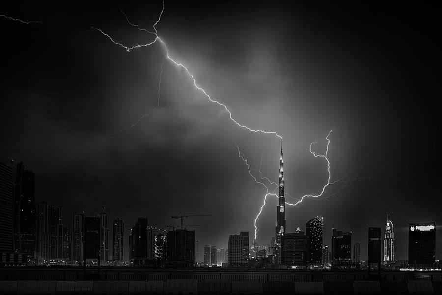 Burj Khalifa Lightning