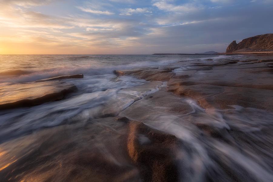 Golden Light - Al Aqah Beach in Fujairah